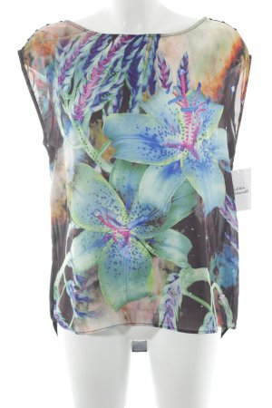 Gaudi Kurzarm-Bluse florales Muster Casual-Look