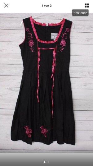 Gaudi leathers dirndl schwarz pink gr 40