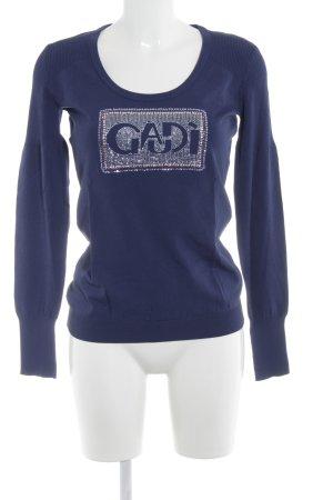 Gaudi Longsleeve blau Casual-Look