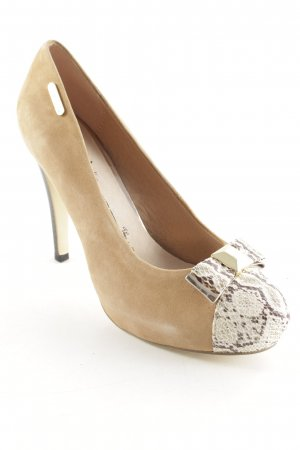 Gaudi Plateau-Pumps camel-goldfarben Party-Look