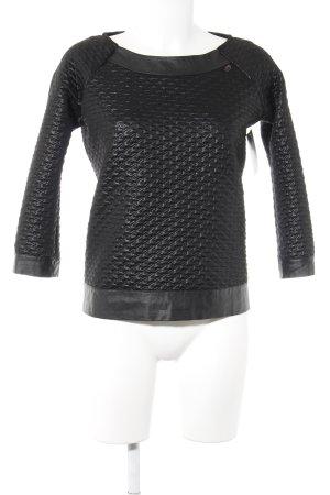 Gaudi Rundhalspullover schwarz abstraktes Muster Casual-Look