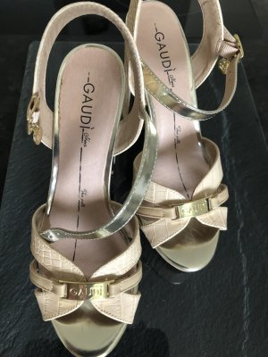 Gaudi High Heel Sandal gold-colored-cream
