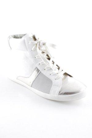 Gaudi Schlüpfsneaker weiß-silberfarben Casual-Look