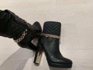 Gaudi Stiefeletten schwarz gold gr 39