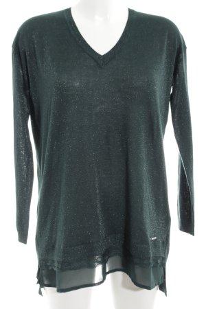 Gaudi V-Ausschnitt-Pullover khaki Casual-Look