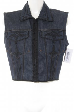 Gaultier Denim Vest blue-black casual look