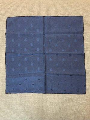 Hermès Fazzolettino da tasca blu acciaio