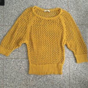gazel Grof gebreide trui geel
