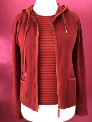 GCfontana Ensemble en tricot rouge carmin-rouge brique coton
