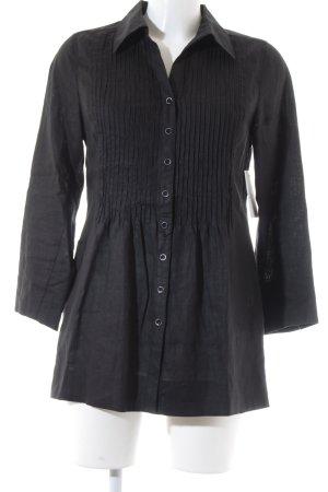 GCfontana Leinenbluse schwarz Elegant