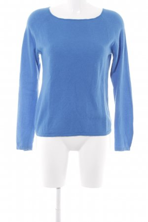 GCfontana Rundhalspullover blau Casual-Look
