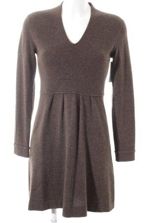 GCfontana Vestido de lana marrón oscuro moteado look casual