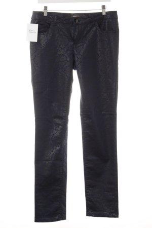 GDM Pantalon strech noir imprimé allover style décontracté