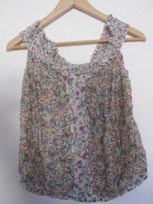 geblühmte Bluse mit seidigem Stoff, ideal für den Sommer Größe M