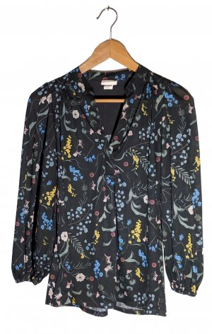 H&M Blusa caída negro Poliéster
