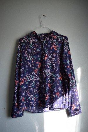 Geblümte Vintage Bluse