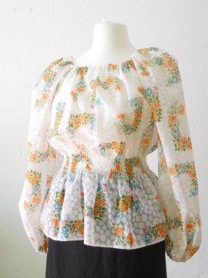 Geblümte Vintage Bluse Tunika Fr. 44 - 48
