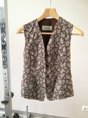 Reversible Vest brown red-gold-colored
