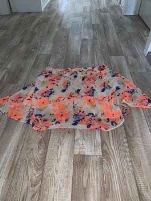 Vila Midi Skirt neon orange