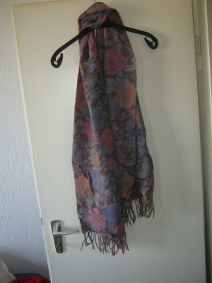 geblümter Schal aus Lammwolle