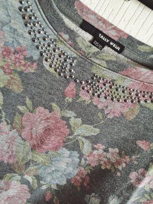 """geblümter Sweater mit """"aufgeklebtem"""" Bubikragen"""