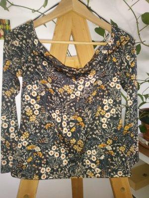 H&M Carmen shirt veelkleurig Gemengd weefsel