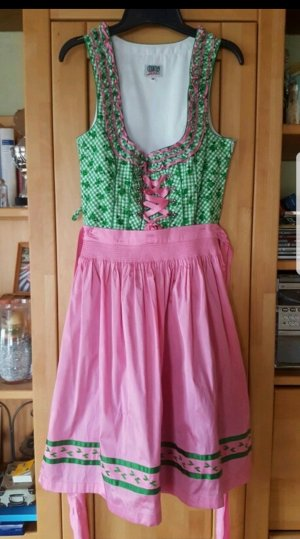 Country Line Dirndl roze-donkergroen