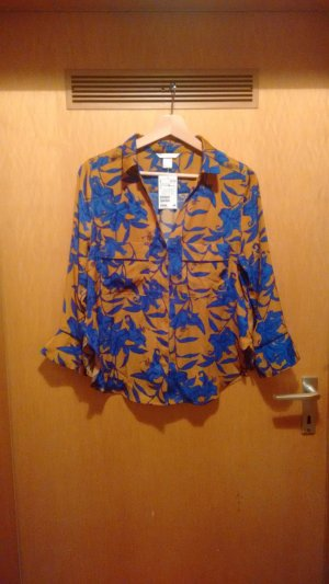 H&M Shirt Blouse gold orange-blue