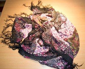 Zara Fazzoletto da collo multicolore Tessuto misto