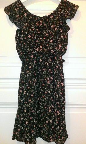Geblümtes Kleid mit Gürtel von CLOCKHOUSE