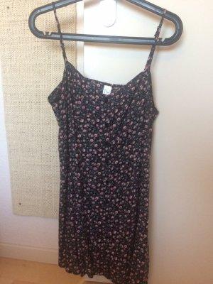 Geblümtes Kleid mit Knöpfen H&M 38 Sommerkleid