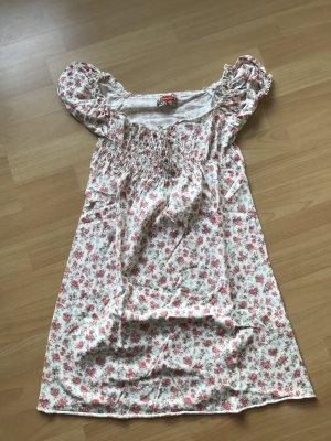 Geblümtes Kleid mit verstellbaren Ärmeln