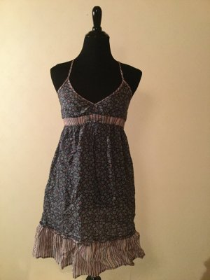 H&M Halter Dress steel blue-brick red