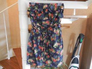 Geblümtes Sommerkleid ohne Träger mit Volants von Pepe Jeans