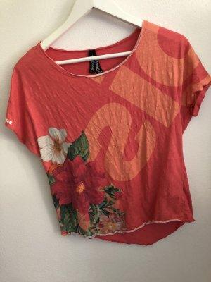 Geblümtes T-Shirt, Desigual