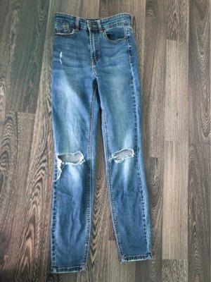 Pimkie Pantalon taille haute bleu