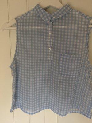Gecroppte, süße Karo-Bluse