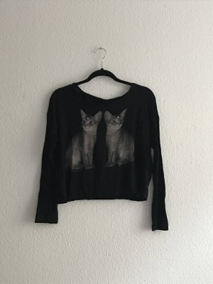 Gecroppter Katzensweater von H&M