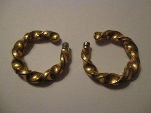 Ear Hoops gold-colored metal