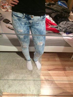 Gefleckte skinny Jeans