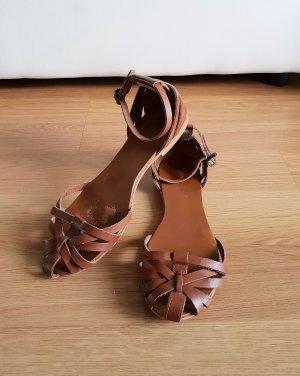 New Look Sandales à lanière brun-marron clair cuir