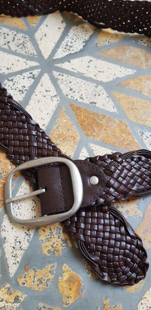Cintura intrecciata marrone scuro