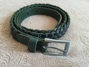 Leather Belt dark green leather
