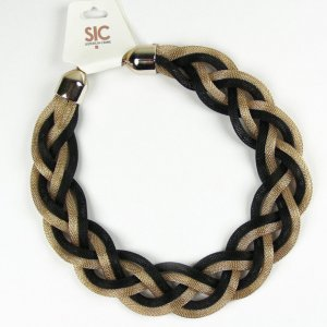 Collier Necklace gold-colored-black