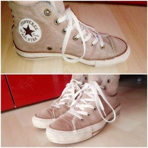 Gefütterte Converse Schuhe * Echtes Leder * wenig getragen