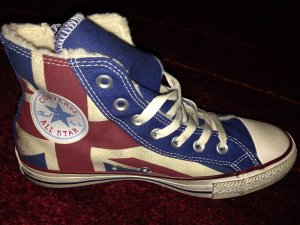 Gefütterte Converse Sneaker Gr 37,5 Union Flag