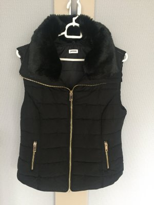 Pimkie Quilted Gilet black-sand brown polyester