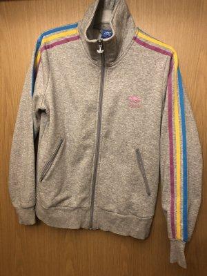 Adidas Originals Sweat Jacket light grey cotton