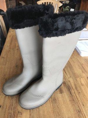 Botas de agua gris claro-marrón grisáceo