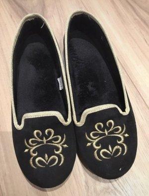Gabor Slipper Socks black-gold-colored
